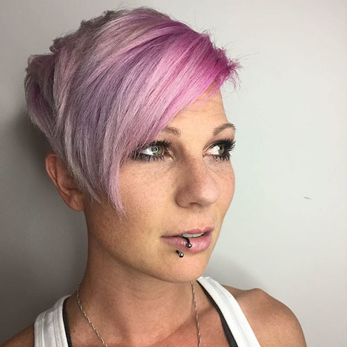 Pink Hairstyles For Short Hair