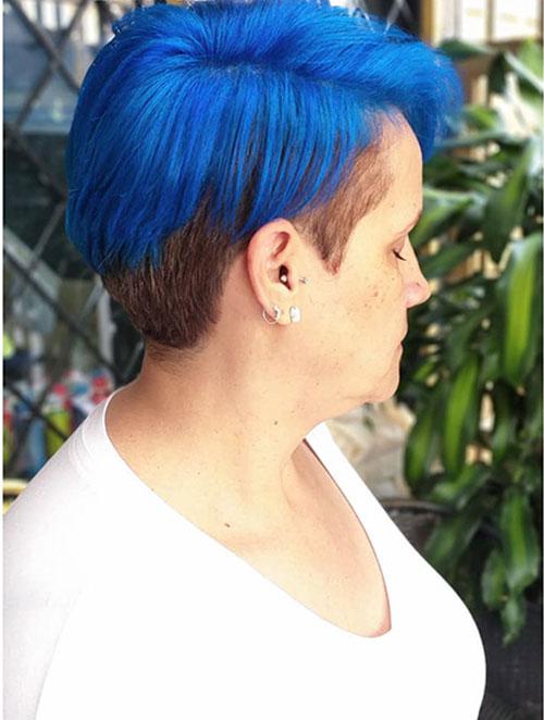 Short Blue Hair 2020