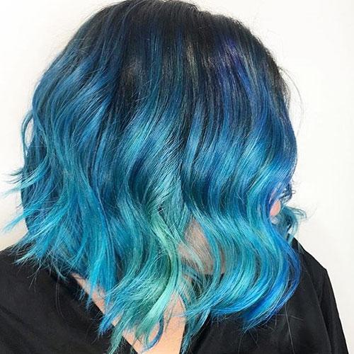 Blue Short Hair Styles