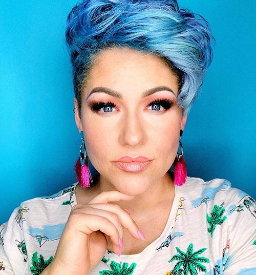 Short Blue Hair For Women