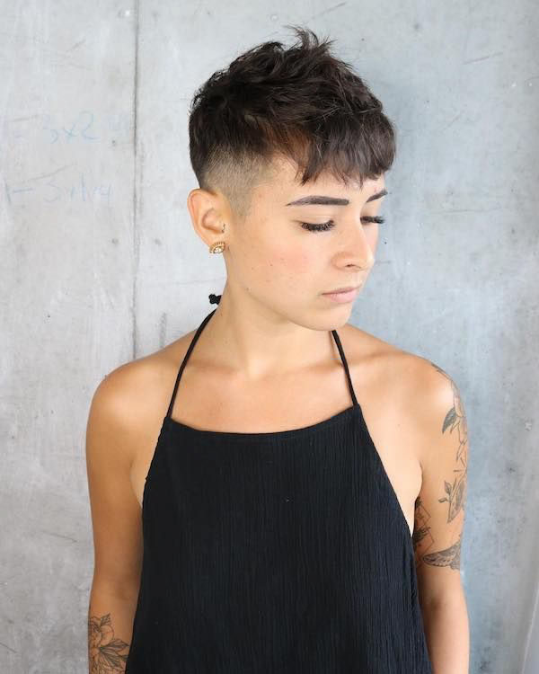 Images Of Short Shaved Hair