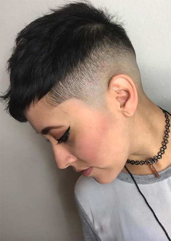 Short And Mohawk Haircuts