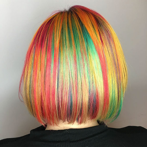 Short Rainbow Hair
