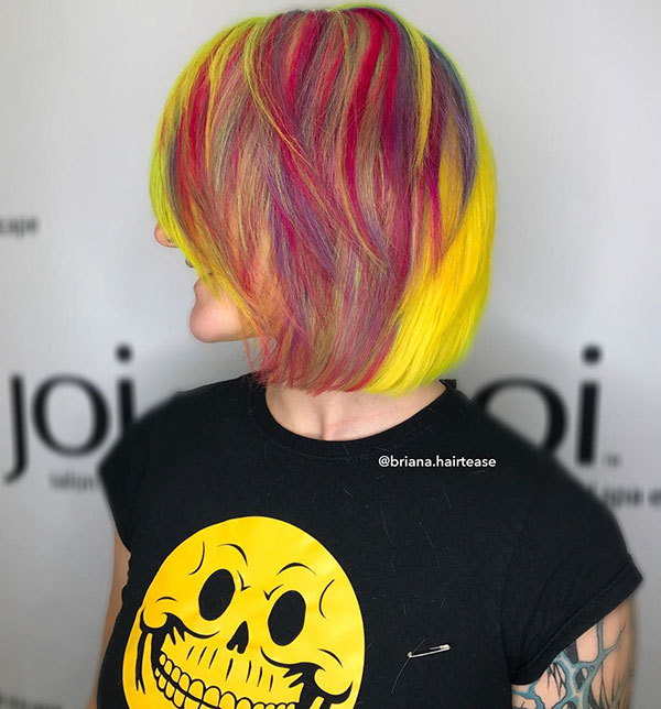 Short Rainbow Hair Images
