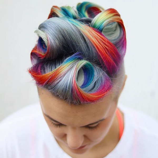 Short Rainbow Hairstyles
