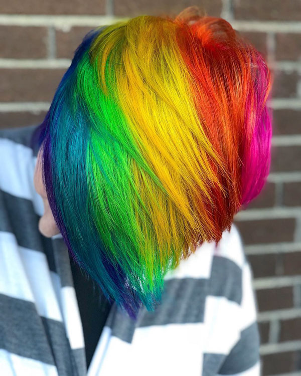 Rainbow Short Hair