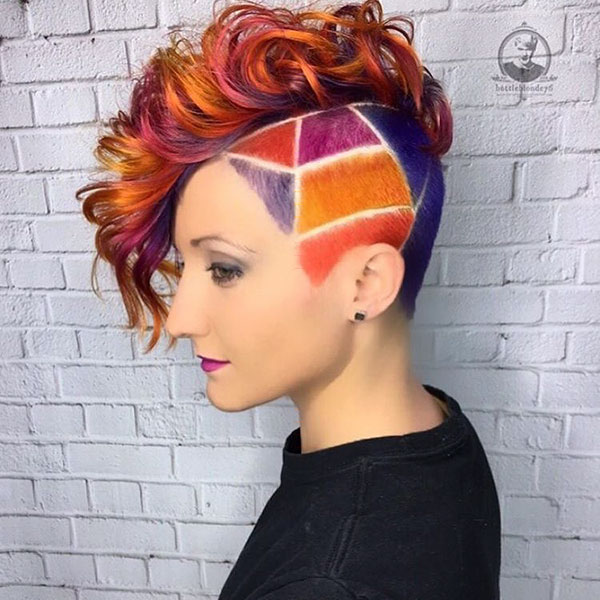 Short Hair With Rainbow
