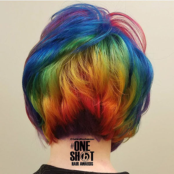 Hairstyles For Short Rainbow Hair