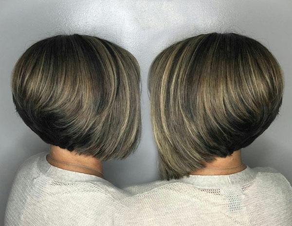 bob cut hair woman