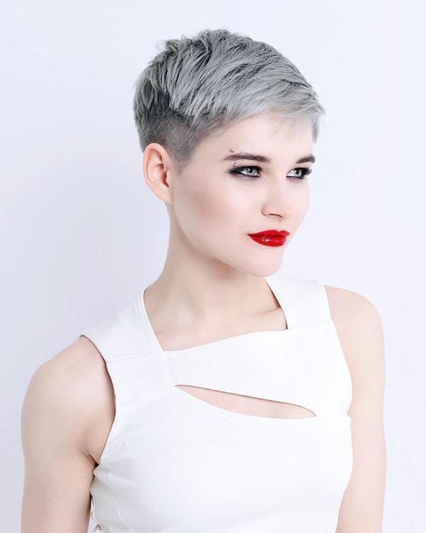pixie cut women's hair