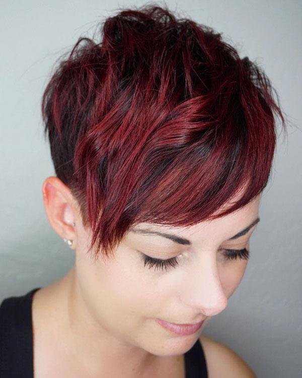 pixie hair cut women