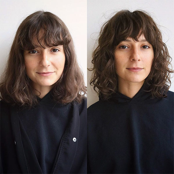 curly female hair