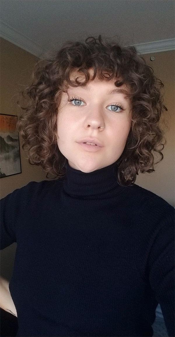 cut hair curly