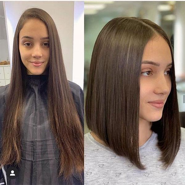straight cut for wavy hair