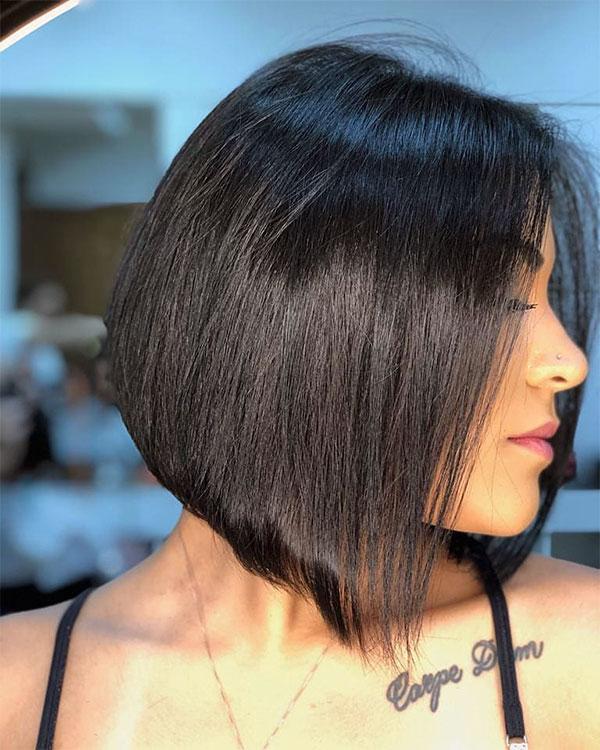 straight hair short cut