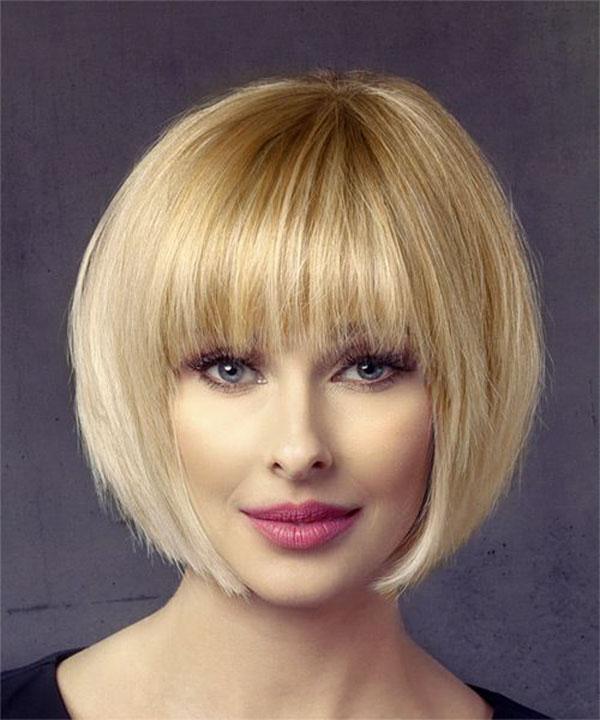straight short hair cut style